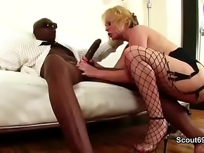 HOT MILF in Hard Anal fuck by black Mandingo Monster Dick