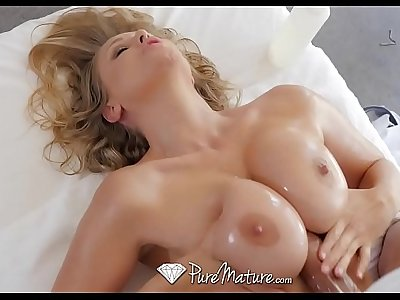 PureMature Massage bathing MILF Julia Ann fuck and facial