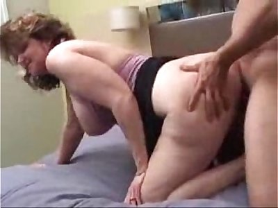 Big Titted Mature Slutwife Gets Her Ass and Mouth Filled