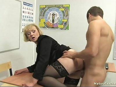 Russian mature teacher 6