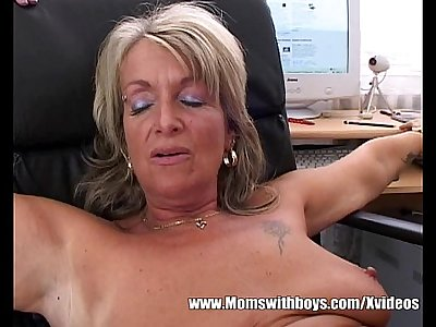 Mature Blonde Boss Fucks An Applicant