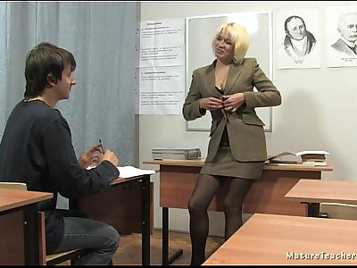 Russian mature teacher 2 - Nadezhda (mature teachers orgies)