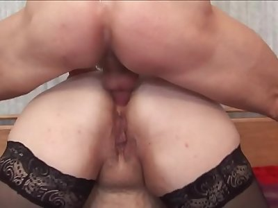 BBW mom anal with boy