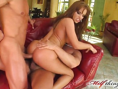 Milf Thing MILF gets her ass fisted and fucked by two cocks