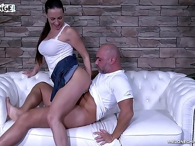 Brutal hardcore ass fuck with Mea Melone & Christian Clay